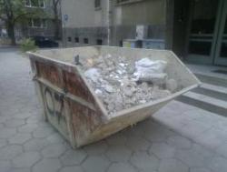 Извозване на строителни отпадъци с контейнер 4 кубика в София