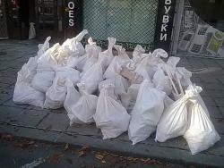 Сваляне на строителни боклуци, товарене и изхвърляне с камион