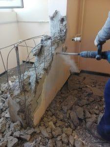 Къртачи на стени, бетон, извозване на строителни отпадъци с контейнер.